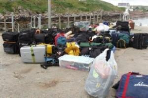 Luggage at Badentarbat pier